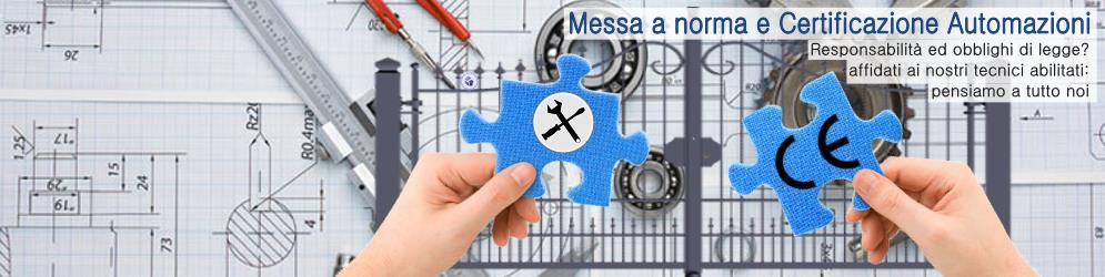 Banner_Messa a norma e Certificazione Automazioni portoni e cancelli