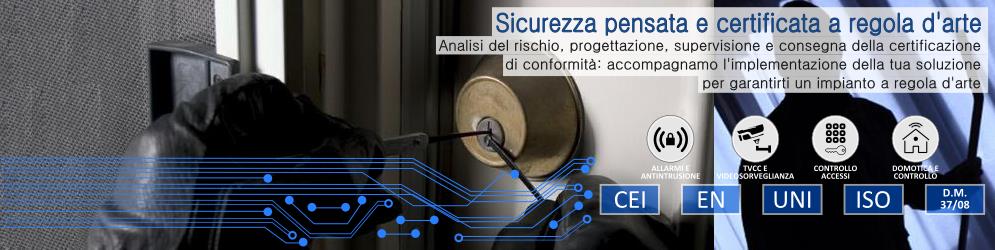 Banner_Progettazione e certificazione antintrusione allarmi e sicurezza