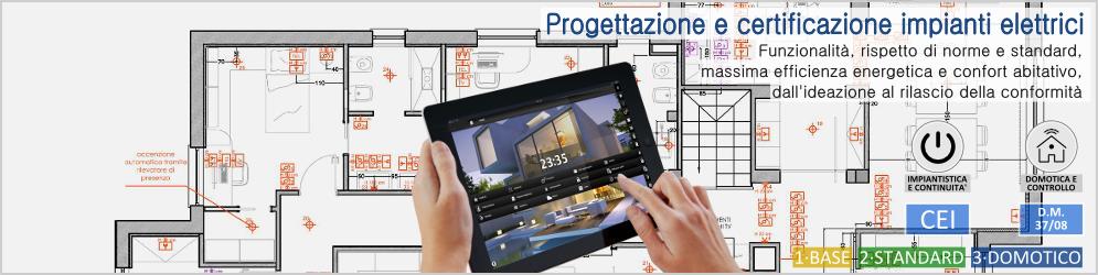 Banner_Progettazione e certificazione impianti elettrici e domotici