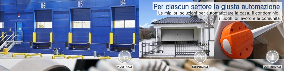 Banner_SOLUZIONI PER L AUTOMAZIONE cancelli porte portoni