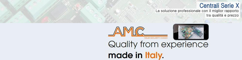 Banner pagina AMC Elettronica Centrali serie X
